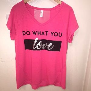 Pink Graphic Tee Do What You Love